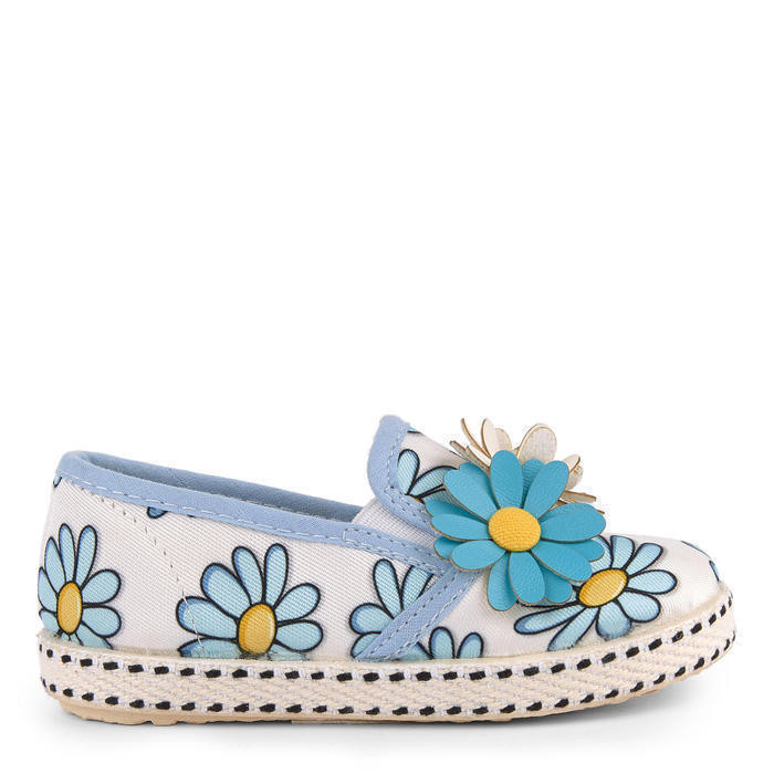 Printed rope-soled sandals with flowers