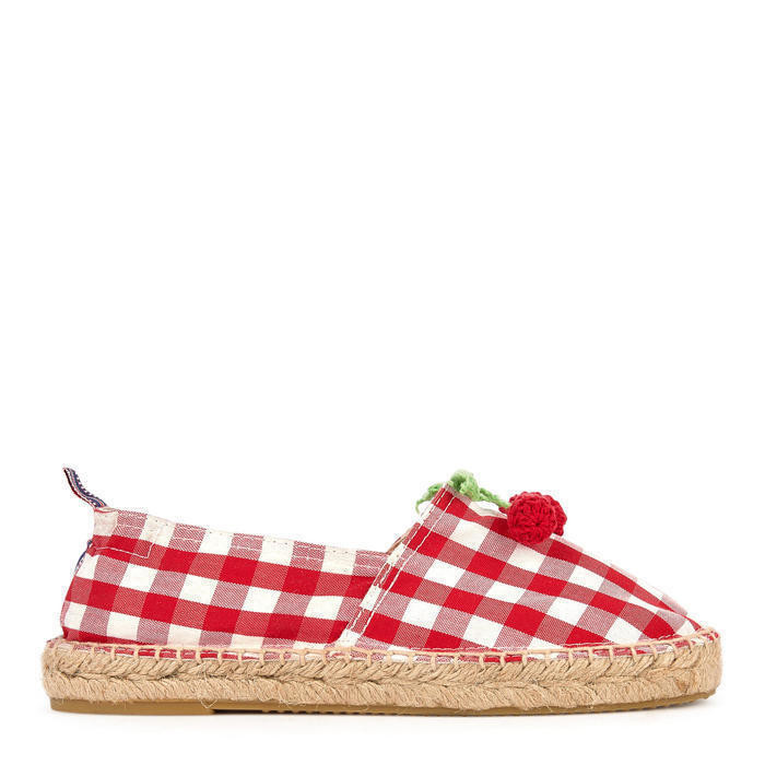 Cherry rope-soled sandals