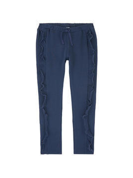 Tracksuit pants with flounces