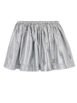 Metallic effect skirt