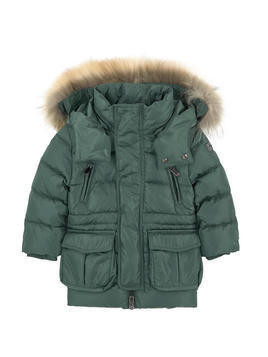 Parka with down and feather padding