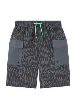 UV sun protection printed swim shorts