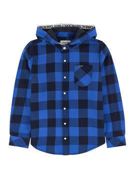 Checked shirt with a hood