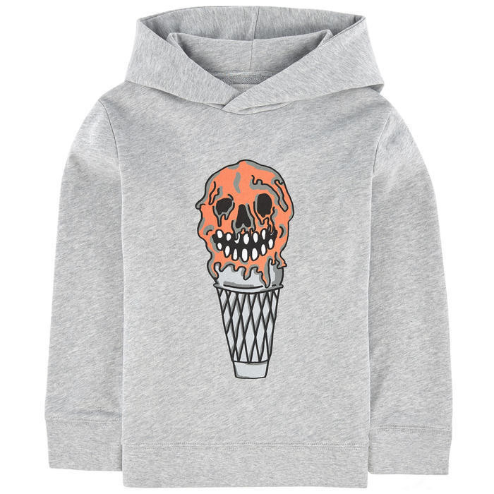 Graphic organic cotton hoodie