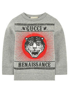 Graphic neoprene sweatshirt