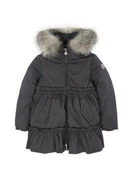 Parka with down and feather padding - Tourterelle
