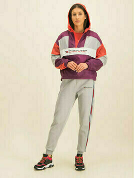 Tommy Sport Kurtka puchowa Sherpa Lined Blocked S10S100416 Kolorowy Cropped Fit