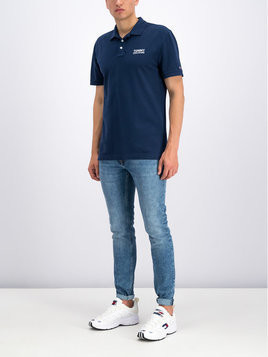 Tommy Jeans Polo DM0DM06683 Granatowy Regular Fit