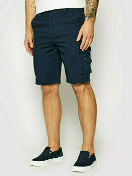 Quiksilver Szorty materiałowe Crucial Battle EQYWS03456 Granatowy Tapered Fit