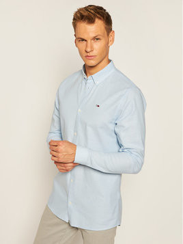 Tommy Jeans Koszula Tjm Stretch Oxford DM0DM06562 Niebieski Slim Fit