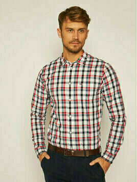 Tommy Jeans Koszula Tjm Faded Checks DM0DM08392 Granatowy Regular Fit