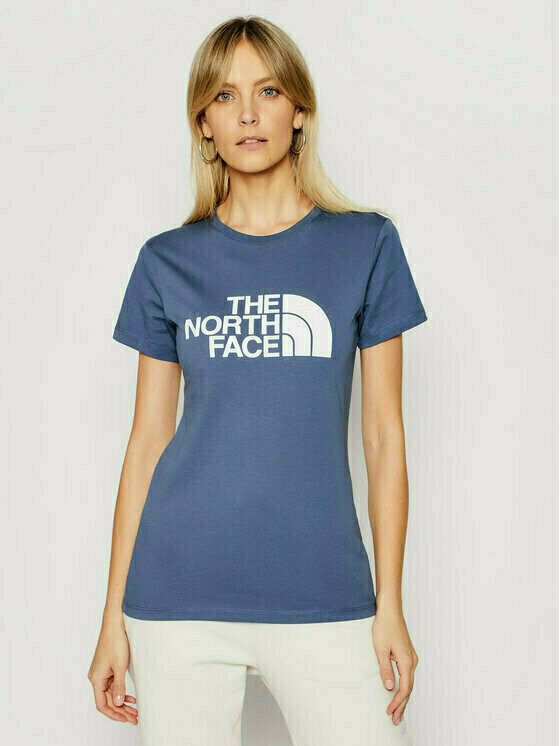 The North Face T-Shirt Easy NF0A4T1QWC41 Niebieski Regular Fit