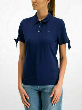 TOMMY HILFIGER Polo WW0WW25371 Granatowy Regular Fit