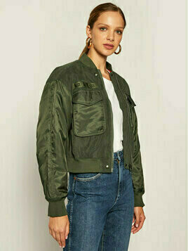 Lee Kurtka bomber Sateen Bomber L56EMMNX Zielony Relaxed Fit