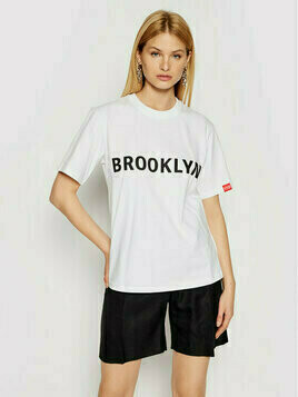 Victoria Victoria Beckham T-Shirt Brooklyn 2221JTS002511A Biały Regular Fit