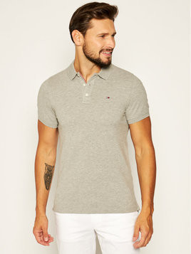Tommy Jeans Polo DM0DM04266 Szary Slim Fit