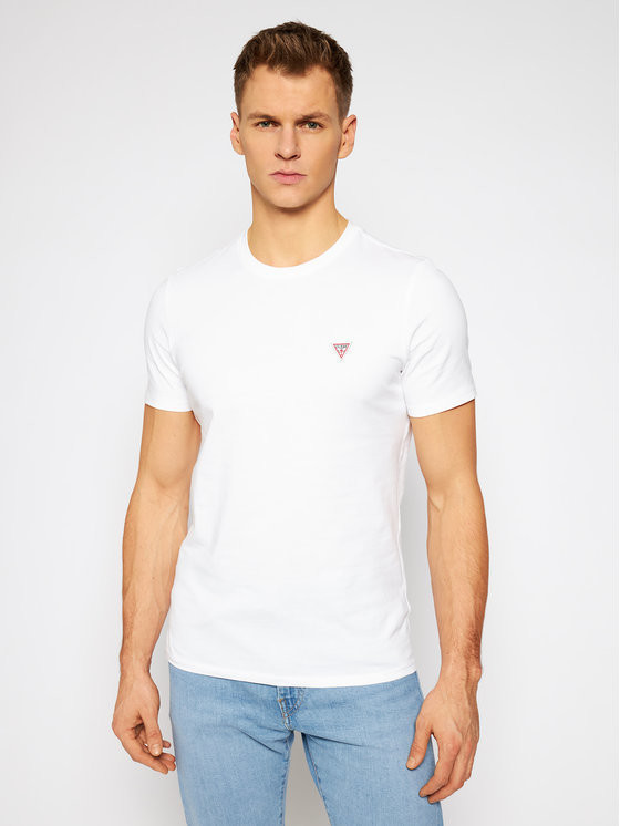Guess T-Shirt M1RI36 I3Z11 Biały Slim Fit