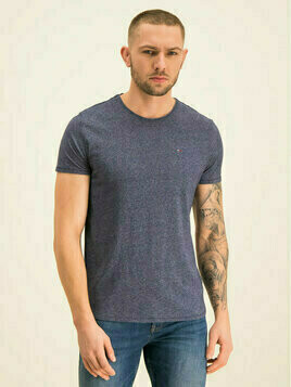Tommy Jeans T-Shirt Tjm Essential Jaspe DM0DM04792 Granatowy Slim Fit