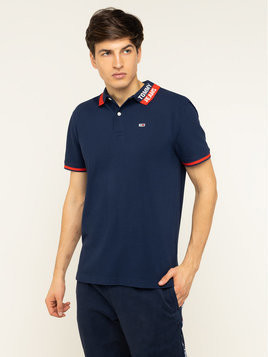 Tommy Jeans Polo Branded Collar DM0DM07451 Granatowy Regular Fit