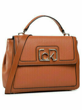 Calvin Klein Torebka Flap Top Handle Md K60K607091 Brązowy