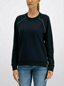 TOMMY HILFIGER Bluza Signature WW0WW25365 Granatowy Regular Fit
