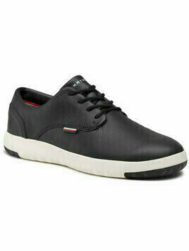 Tommy Hilfiger Sneakersy Lighweight City Leather Shoe FM0FM02862 Czarny