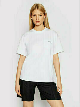 Victoria Victoria Beckham T-Shirt Pocket Logo 2221JTS002554A Biały Regular Fit