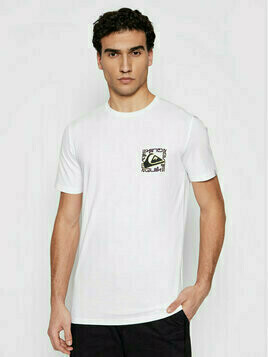 Quiksilver T-Shirt Isle Of Stoke EQYZT06322 Biały Classic Fit