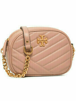 Tory Burch Torebka Kira Chevron Camera Bag 60227 Różowy