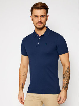 Tommy Jeans Polo DM0DM04266 Granatowy Slim Fit