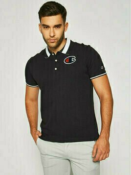 Champion Polo Manches Courter 214193 Czarny Regular Fit