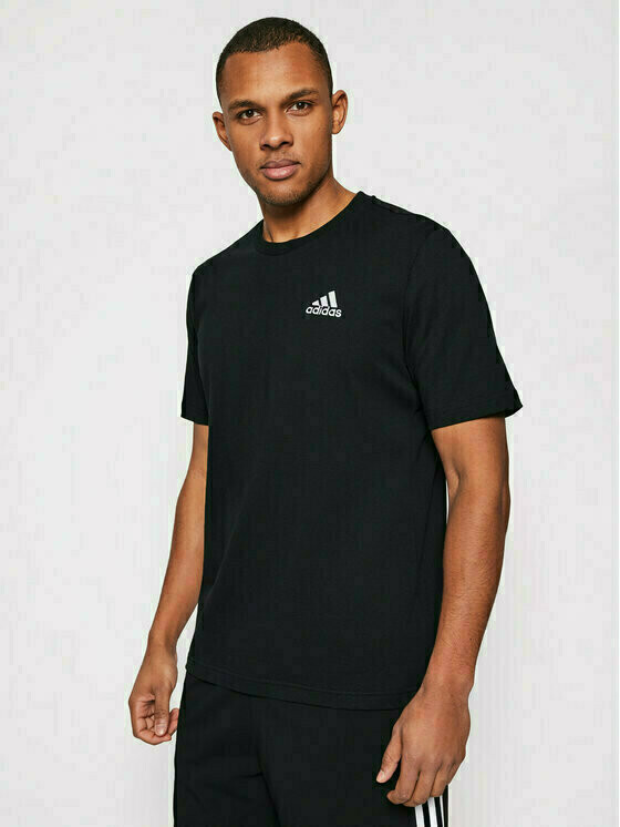 adidas T-Shirt Essentials Embroidered Small Logo Tee GK9639 Czarny Regular Fit