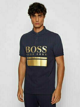 Boss Polo Pavel 50435438 Granatowy Regular Fit
