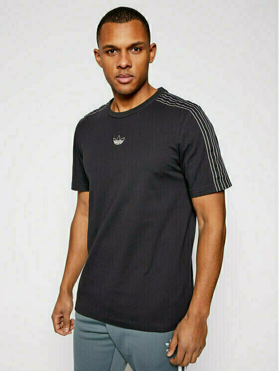 adidas T-Shirt Sprt 3 Stripe GN2417 Czarny Regular Fit