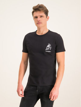 Lamborghini T-Shirt B3XUB7S3 Czarny Regular Fit