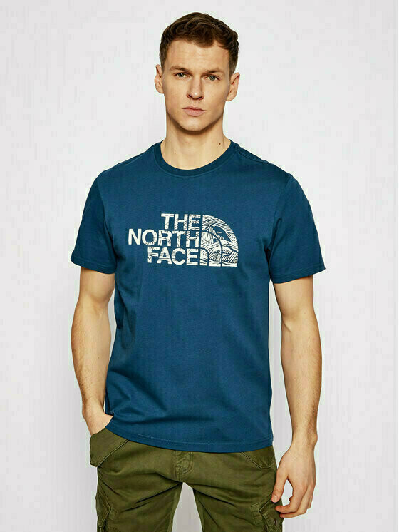 The North Face T-Shirt Woodcut Dome Tee NF00A3G1BH71 Granatowy Regular Fit