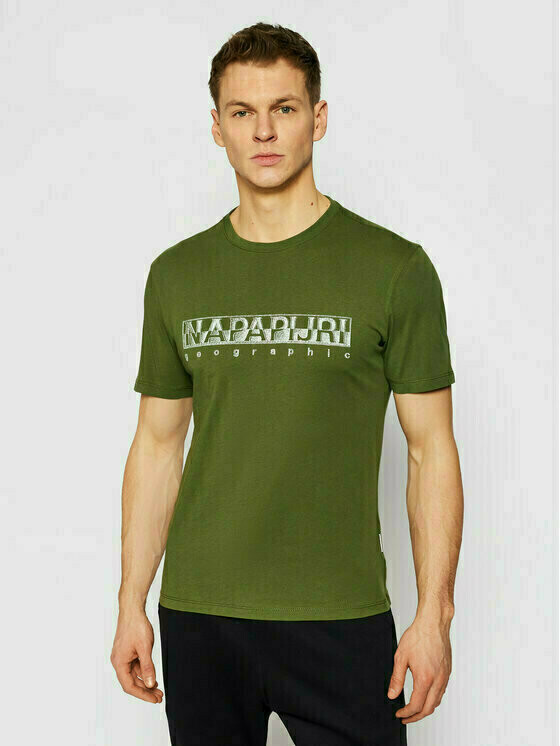 Napapijri T-Shirt Sallar Ss NP0A4F9O Zielony Regular Fit