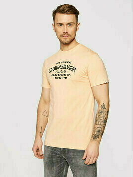 Quiksilver T-Shirt Wider Mile EQYZT06328 Pomarańczowy Regular Fit