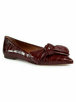 Tory Burch Półbuty 5Mm Bow Flat 76711 Bordowy