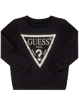 Guess Bluza Triangle Logo K74Q12 K5WK0 Czarny Regular Fit