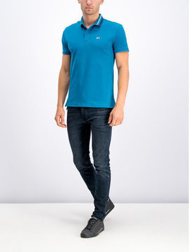 Tommy Jeans Polo DM0DM05509 Niebieski Regular Fit