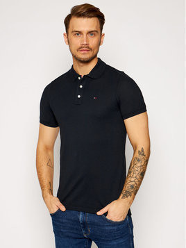 Tommy Jeans Polo DM0DM04266 Czarny Slim Fit