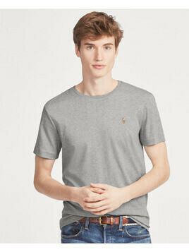 RALPH LAUREN - Szary t-shirt Custom Slim