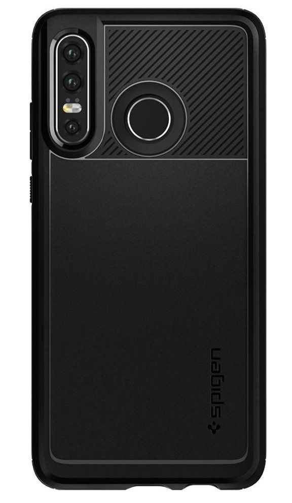 Etui SPIGEN Rugged Armor do Huawei P30 Lite Czarny