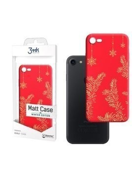 Etui 3MK Matt Case Must Be Magic do Apple iPhone 7/8/SE 2020 Czerwony
