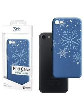 Etui 3MK Matt Case All You Need Is Snow do Apple iPhone 7/8/SE 2020 Niebieski