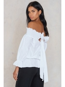 Bardot Bow Tie Back Blouse