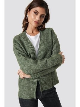 Wool Blend Short Cardigan