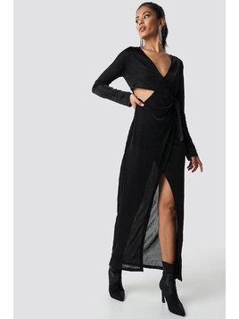 Glittery Long Sleeve Asymmetric Dress