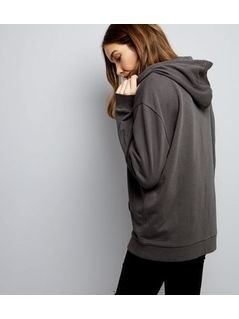 Dark Grey Brooklyn Print Hoodie